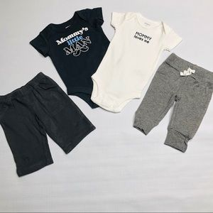 Baby Boy Mommy One Piece Shirts And Pants